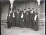 Pomona College class of 1903 in cap and gown