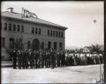 Pomona College class of 1906 in front of Pearsons Hall