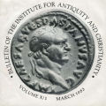Bulletin of the Institute for Antiquity and Christianity, Volume X, Issue 1