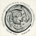 Bulletin of the Institute for Antiquity and Christianity, Volume XVII, Issue 1