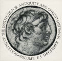 Bulletin of the Institute for Antiquity and Christianity, Volume I, Issue 3