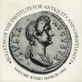Bulletin of the Institute for Antiquity and Christianity, Volume XVIII, Issue 1