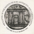 Bulletin of the Institute for Antiquity and Christianity, Volume XIX, Issue 1