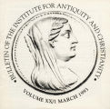 Bulletin of the Institute for Antiquity and Christianity, Volume XX, Issue 1