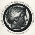 Bulletin of the Institute for Antiquity and Christianity, Volume II, Issue 3