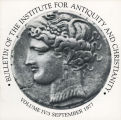 Bulletin of the Institute for Antiquity and Christianity, Volume IV, Issue 3