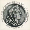 Bulletin of the Institute for Antiquity and Christianity, Volume V, Issue 3