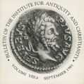 Bulletin of the Institute for Antiquity and Christianity, Volume VIII, Issue 3