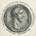 Bulletin of the Institute for Antiquity and Christianity, Volume XII, Issue 3