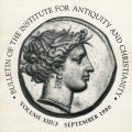 Bulletin of the Institute for Antiquity and Christianity, Volume XIII, Issue 3
