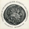 Bulletin of the Institute for Antiquity and Christianity, Volume XV, Issue 3