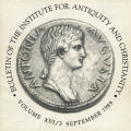 Bulletin of the Institute for Antiquity and Christianity, Volume XVI, Issue 3