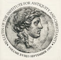 Bulletin of the Institute for Antiquity and Christianity, Volume XVIII, Issue 3