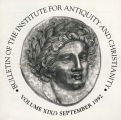 Bulletin of the Institute for Antiquity and Christianity, Volume XIX, Issue 3
