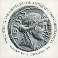 Bulletin of the Institute for Antiquity and Christianity, Volume VIII, Issue 4
