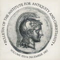 Bulletin of the Institute for Antiquity and Christianity, Volume XIV, Issue 4