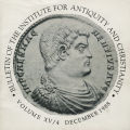 Bulletin of the Institute for Antiquity and Christianity, Volume XV, Issue 4