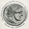 Bulletin of the Institute for Antiquity and Christianity, Volume XVI, Issue 4