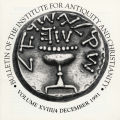 Bulletin of the Institute for Antiquity and Christianity, Volume XVIII, Issue 4