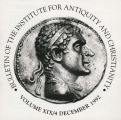 Bulletin of the Institute for Antiquity and Christianity, Volume XIX, Issue 4