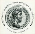 Bulletin of the Institute for Antiquity and Christianity, Volume XXIII, Issue 4