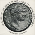 Bulletin of the Institute for Antiquity and Christianity, Volume III, Issue 2