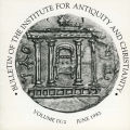 Bulletin of the Institute for Antiquity and Christianity, Volume IX, Issue 2