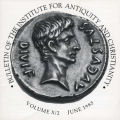 Bulletin of the Institute for Antiquity and Christianity, Volume X, Issue 2