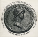 Bulletin of the Institute for Antiquity and Christianity, Volume XIII, Issue 2