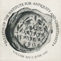Bulletin of the Institute for Antiquity and Christianity, Volume XIV, Issue 2