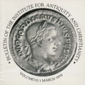 Bulletin of the Institute for Antiquity and Christianity, Volume VI, Issue 1