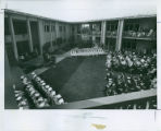 Commencement in Scott Courtyard, Pitzer College