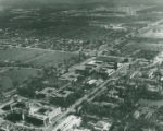 Aerial view of campus, Harvey Mudd College