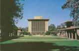 Sprague Library postcard, Harvey Mudd College