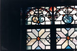 Rare book room stained glass, Scripps College