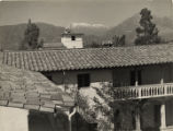Dorsey Hall and Mount Baldy, Scripps College