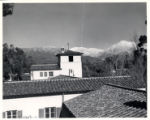 Browning Hall Tower and Mt. Baldy, Scripps College