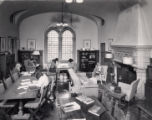 Students in Holbein Room of Denison Library, Scripps College