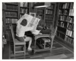 Student in Denison Library, Scripps College