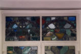 Stained glass window of Denison Library, Scripps College