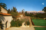 San Gabriel Mountains and Balch Hall, Scripps College