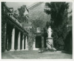 Lebus Courtyard and Madonna statue, Pomona College