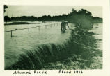 Alumni Field during flood, Pomona College