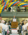 Boorstin speaks at dedication of the New Library