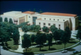 Architectural model of the 1987 addition to Honnold Library