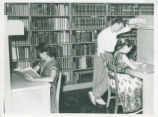 Students studying at Honnold Library