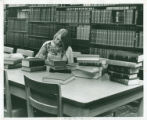 Woman studying at Honnold Library