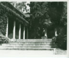 Lebus Courtyard and statue, Pomona College