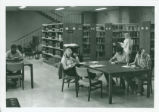 Studying in the Seeley W. Mudd Library