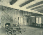 Halona Lodge interior, Pomona College